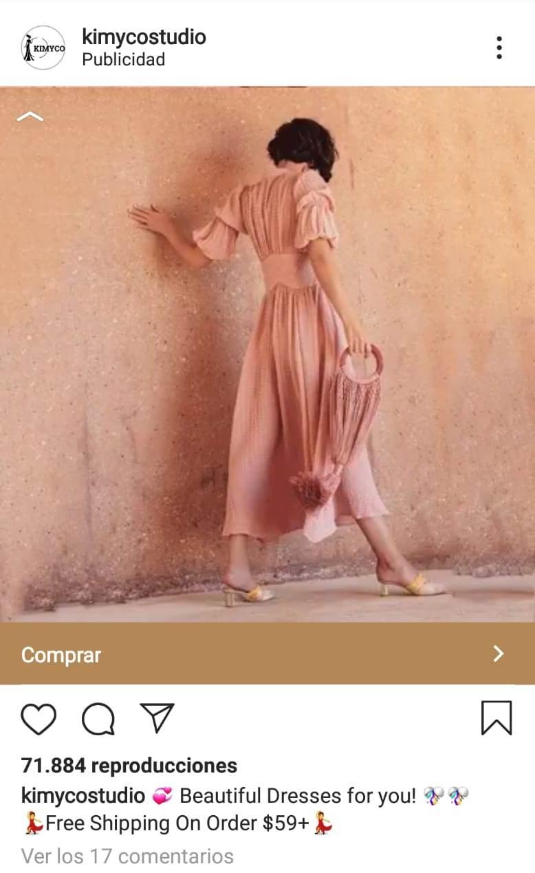 isntagram anuncio con video